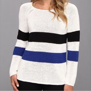 NYDJ Striped Tape Sweater S